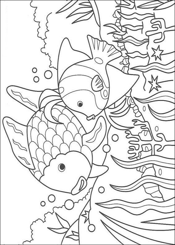 Rainbow Fish Coloring Pages And Friend