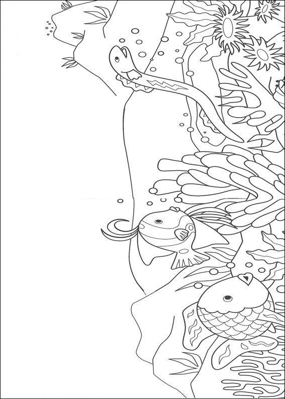 Rainbow Fish Coloring Pages Free To Print