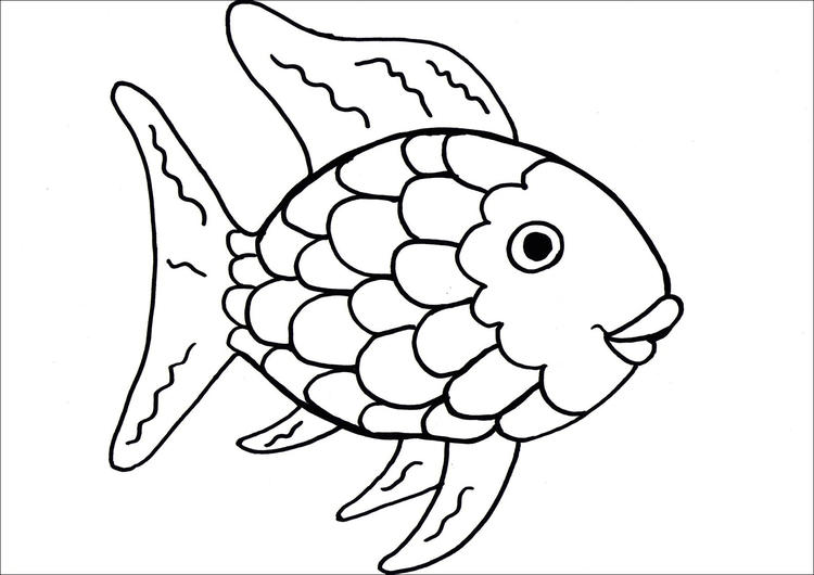 Rainbow Fish Coloring Pages Printable