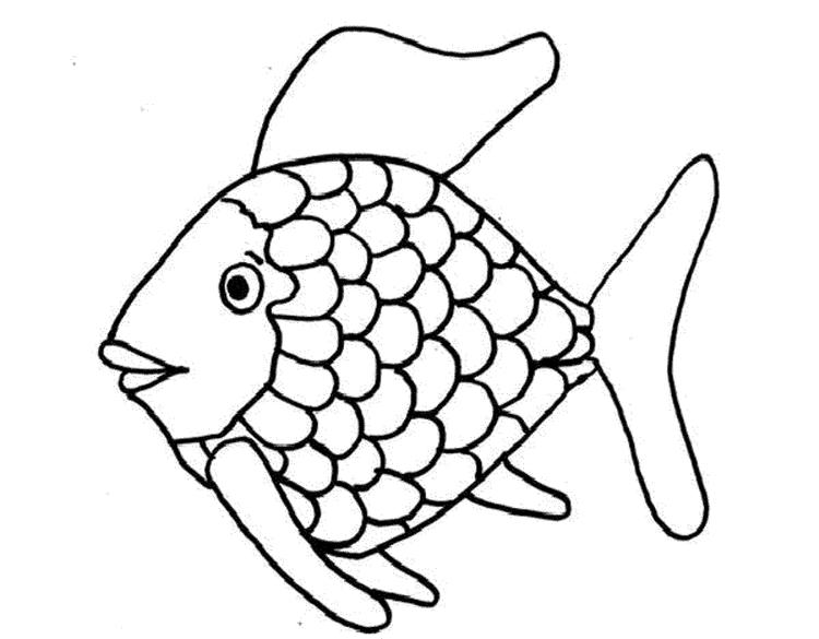 Rainbow Fish Coloring Pages To Print