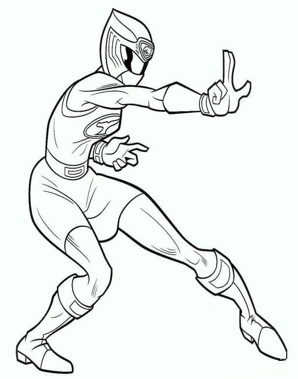 Ranger Pink 2017 Coloring Page