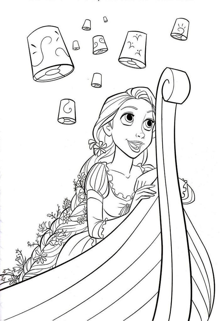 Rapunzel Coloring Pages Easter