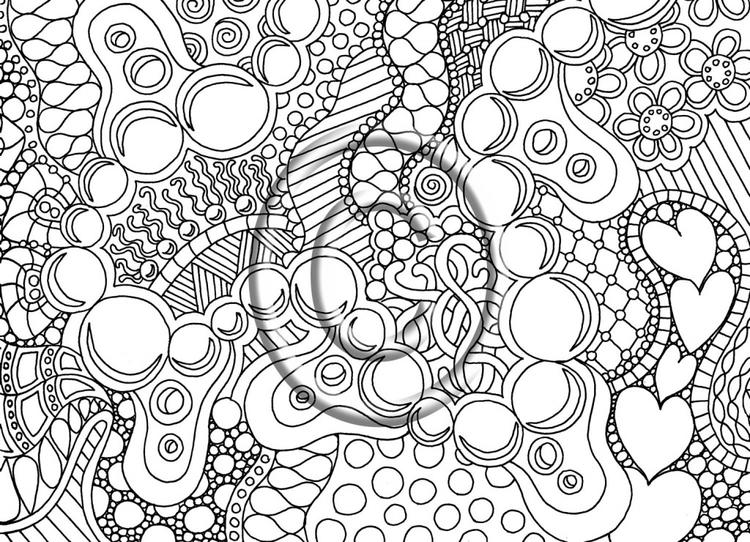 Real Coloring Pages For Teenagers Difficult Color By Number