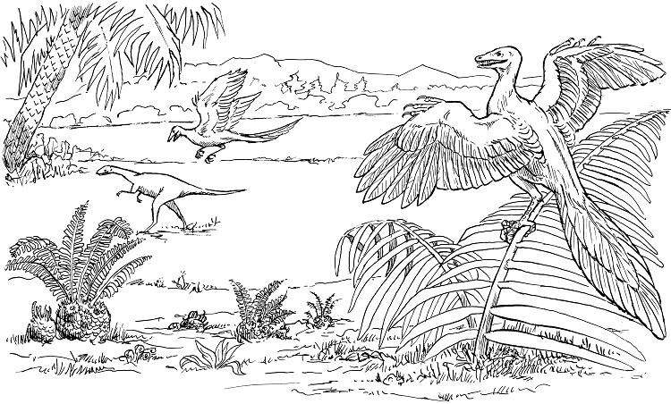 Real Life Dinosaur Coloring Pages