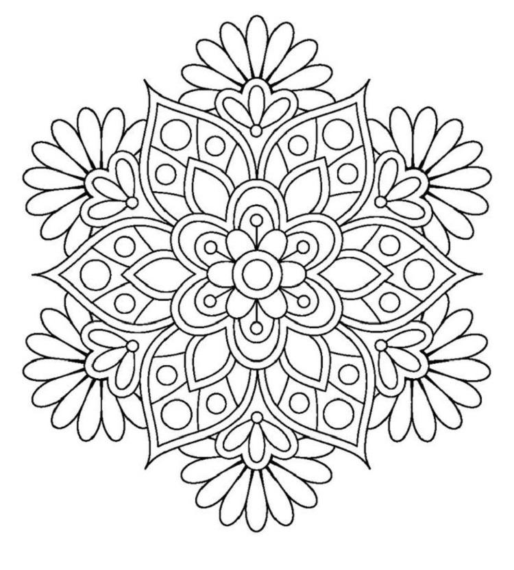 Real Life Flower Coloring Pages