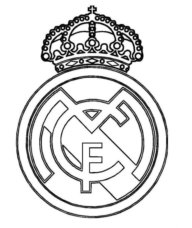 Real Madrid Logo Soccer Coloring Pages