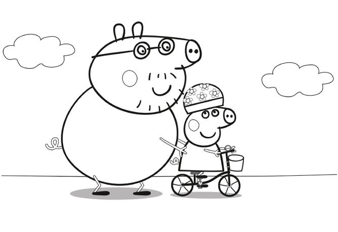 Real Peppa Pig Christmas Coloring Pages
