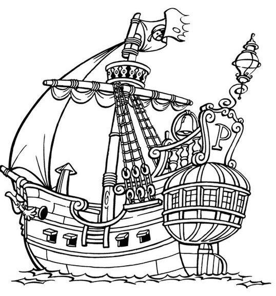 Real Pirate Ships Coloring Page