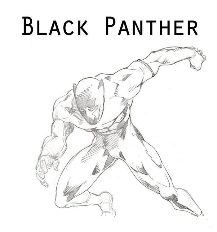 Realistic Black Panther Coloring Pages