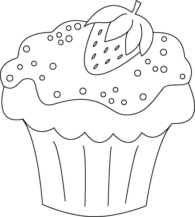 Realistic Cupcake Coloring Pages