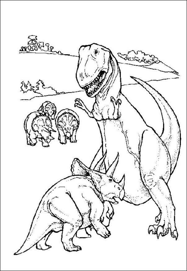 Realistic Dinosaurs Coloring Pages For Kindergarten