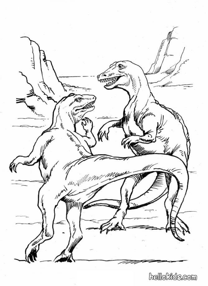 Realistic Dinosaurs Coloring Pages To Print 1