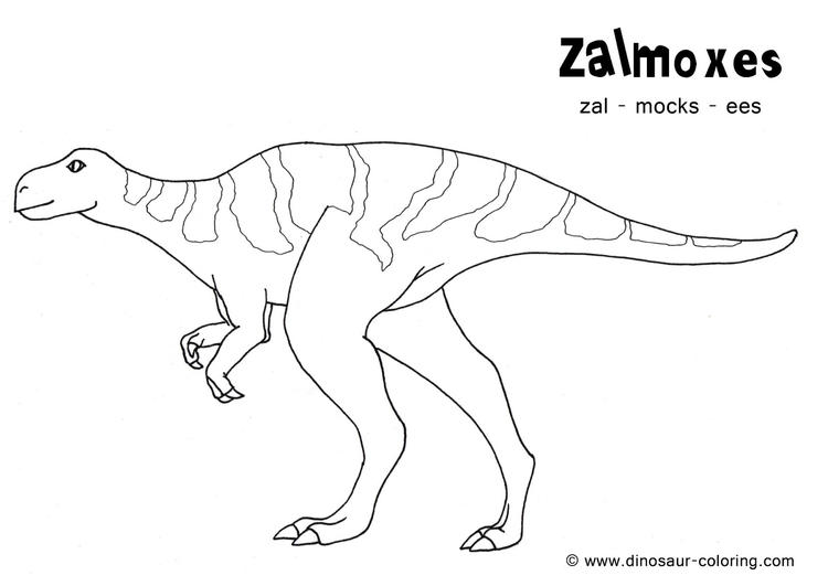 Realistic Dinosaurs Coloring Pages With Names