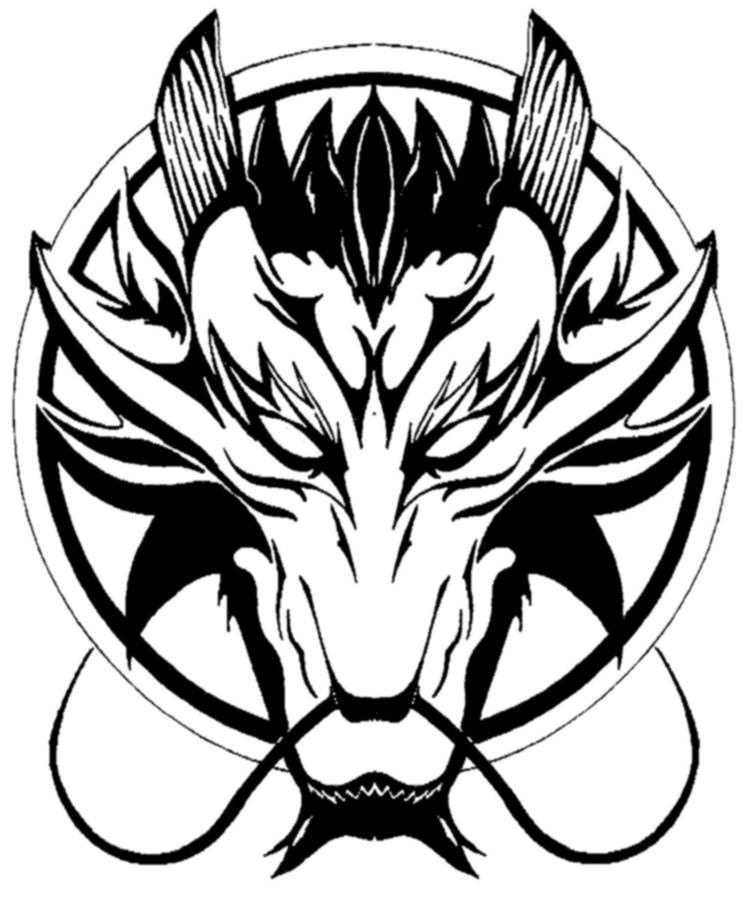 Realistic Dragon Head Coloring Pages 1