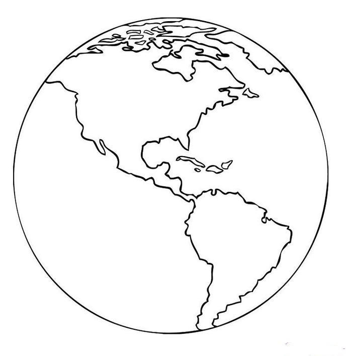 Realistic Earth Coloring Pages