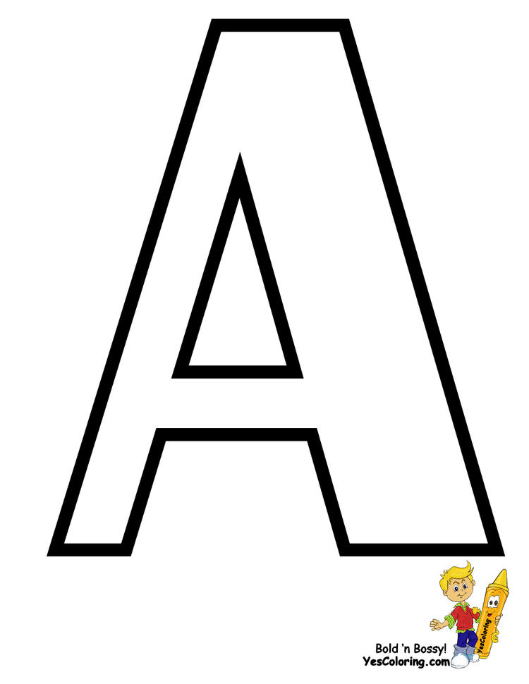 Realistic Free Printable Abc Coloring Pages