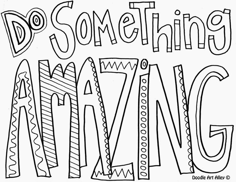 Realistic Teen Quote Coloring Pages