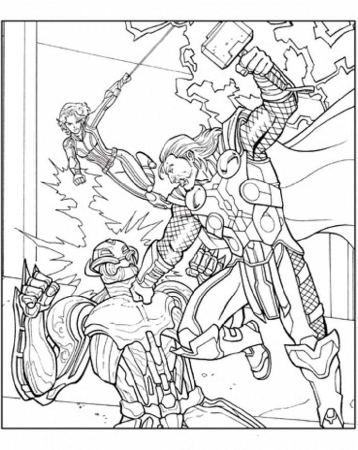 Realistic Thor Coloring Pages