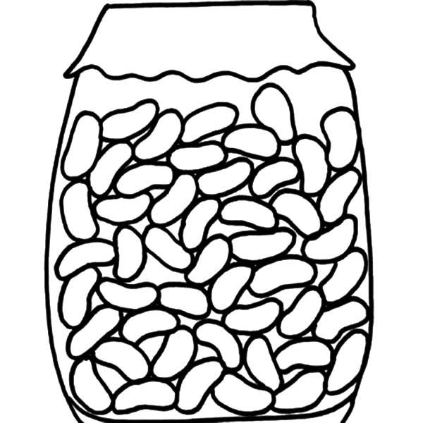 Red Beans In Jar Coloring Pages
