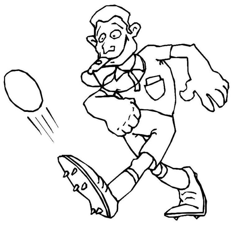 Referee Kicking Ball Soccer Coloring Pages
