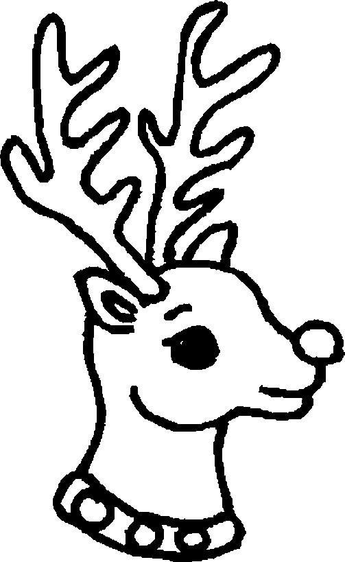 Reindeer Coloring Pages For Toddler
