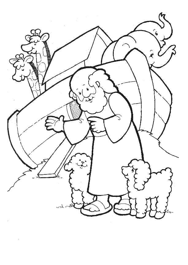 Religious Coloring Pages Bible Story