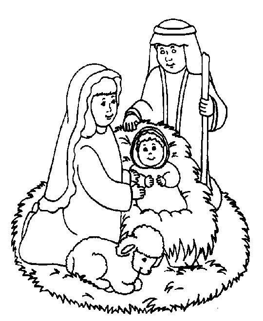 Religious Coloring Pages Birth Of Jesus