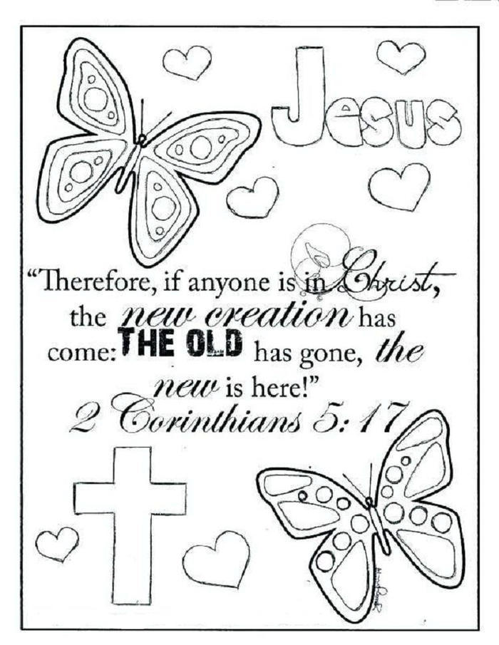 Religious Coloring Pages Butterfly