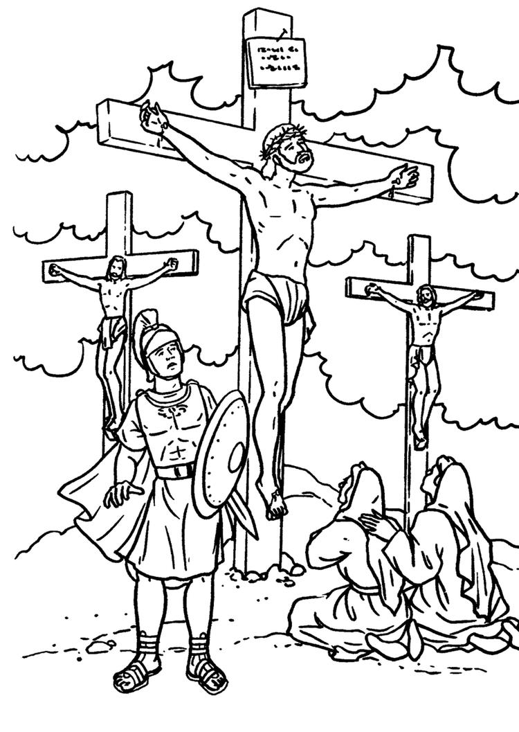Religious Coloring Pages Cross Of Jesus