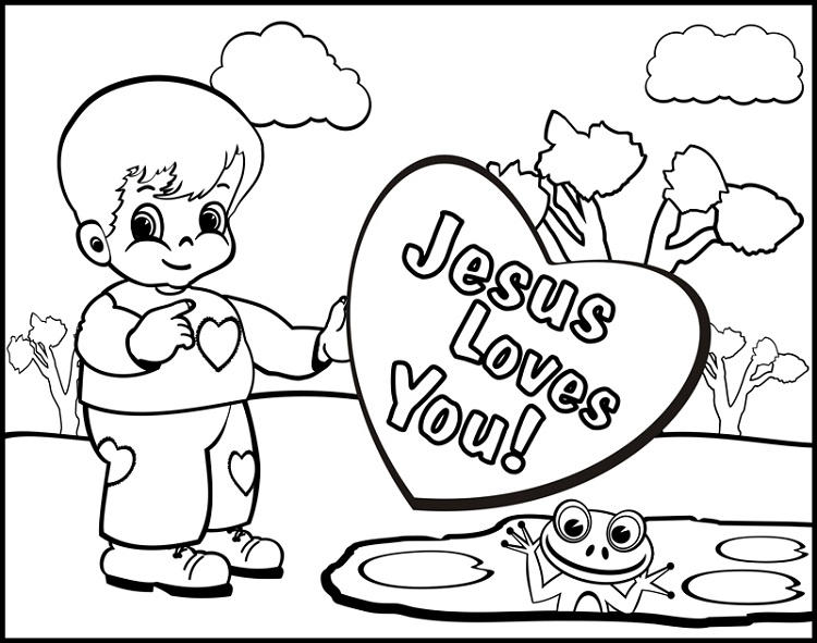 Religious Coloring Pages For Kindergarten