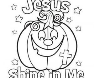 Religious halloween coloring pages