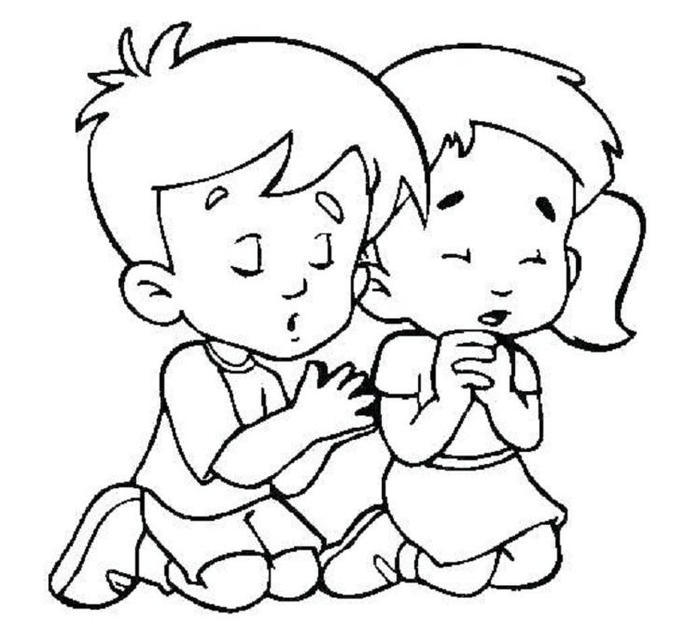 Religious Prayers Coloring Pages