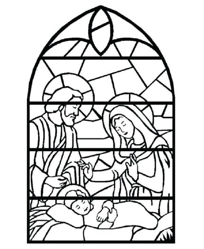 Religious Stained Glass Coloring Pages