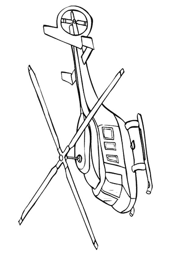 Rescue Helicopter Coloring Pages To Print