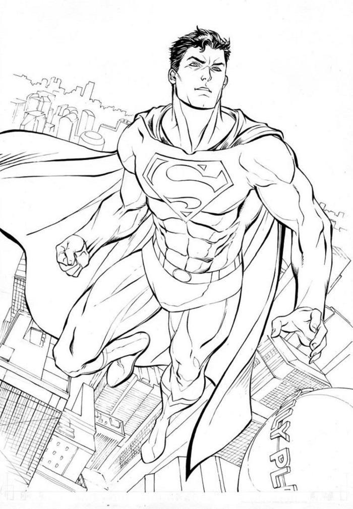 Reslictic Superman Coloring Pages