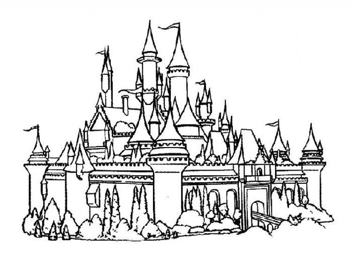Revisited Castle Coloring Pages