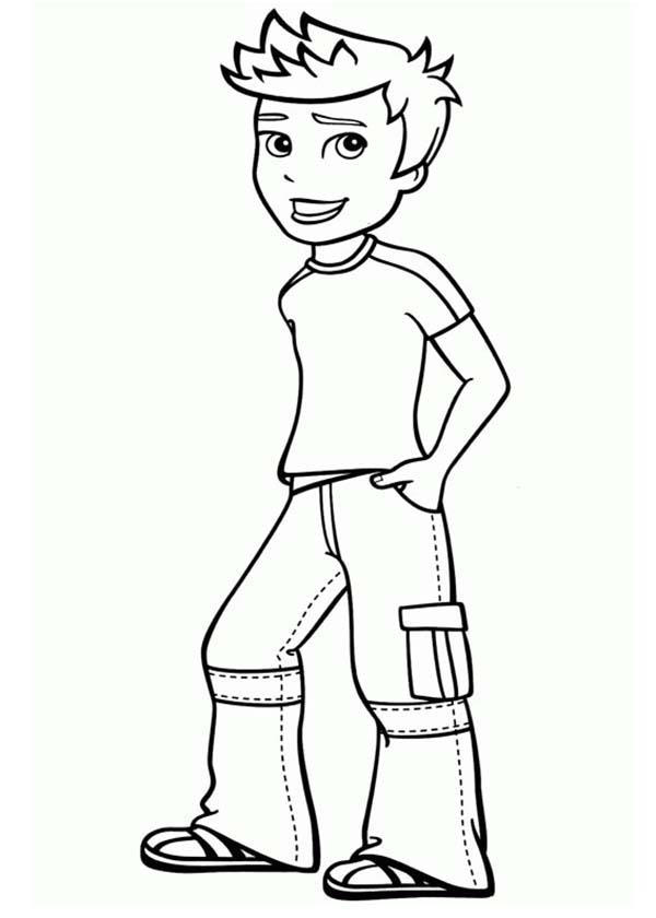Rick Making Pose In Polly Pocket Coloring Pages