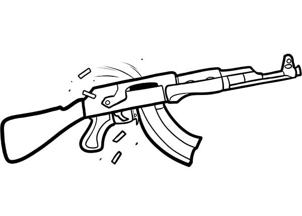 Rifle Gun Coloring Pages To Print
