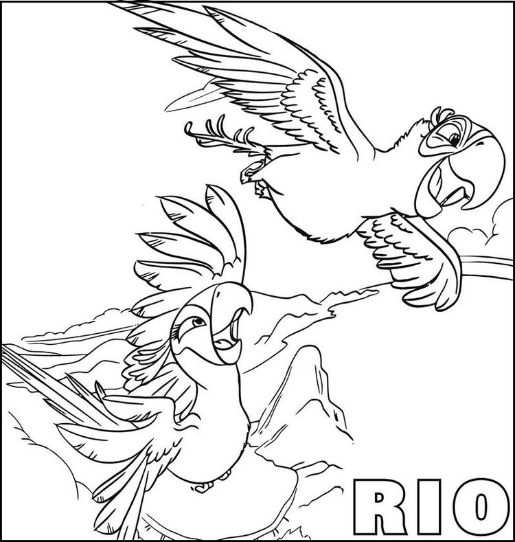 Rio Movies Animation Coloring Pages