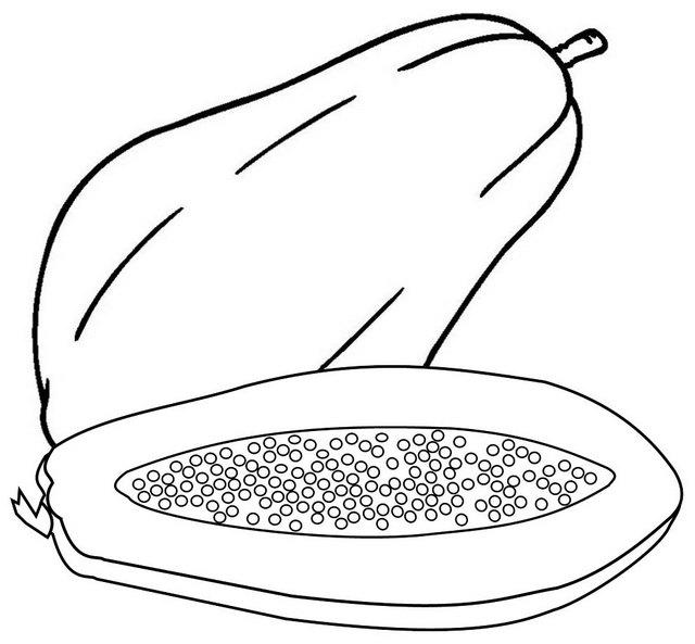 Ripe Papaya Coloring Page