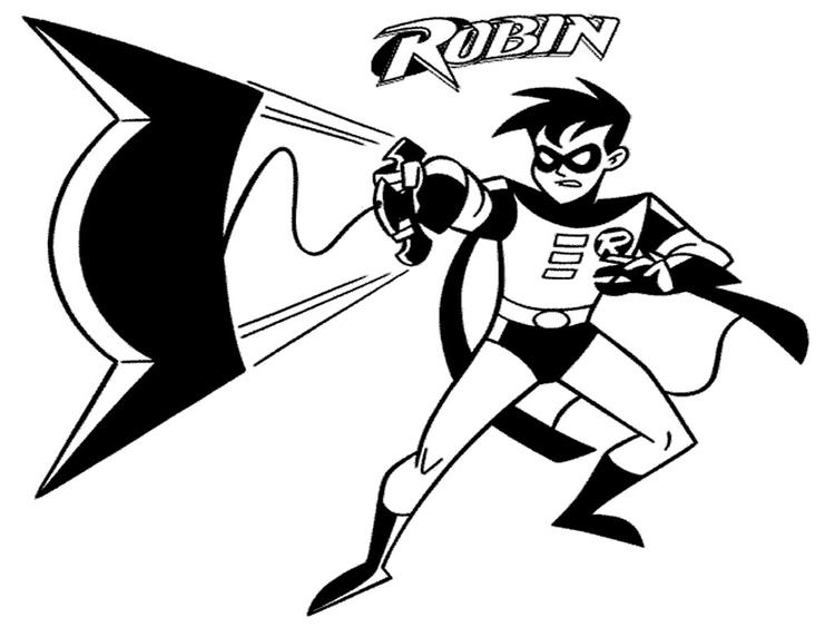 Robin Coloring Pages For Boys
