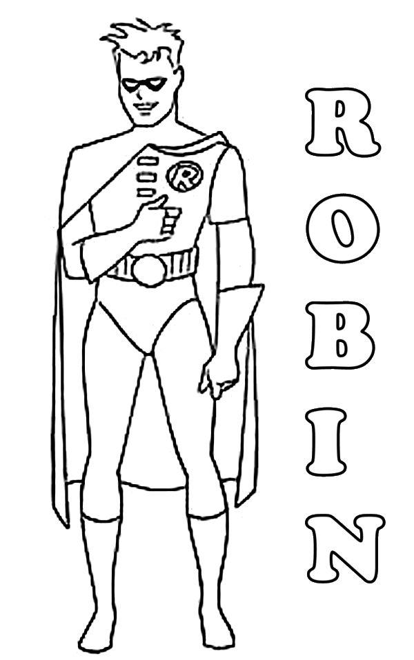 Robin Coloring Pages Free To Print
