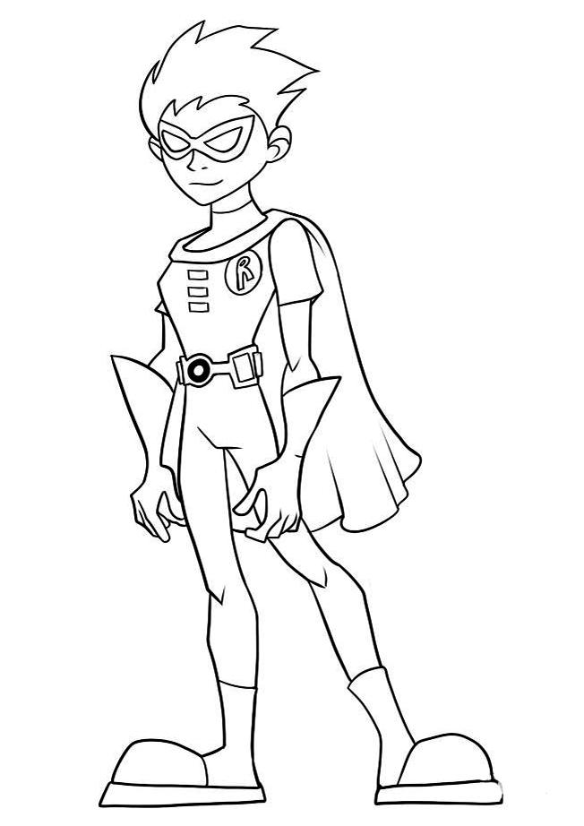 Robin Teen Titans Coloring Pages