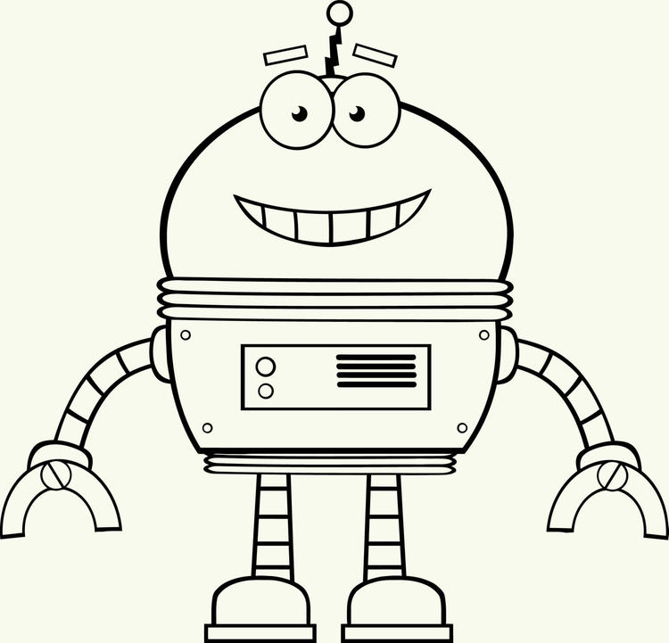 Robot Coloring Page 04
