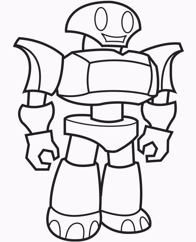Robot Coloring Pages For Boys