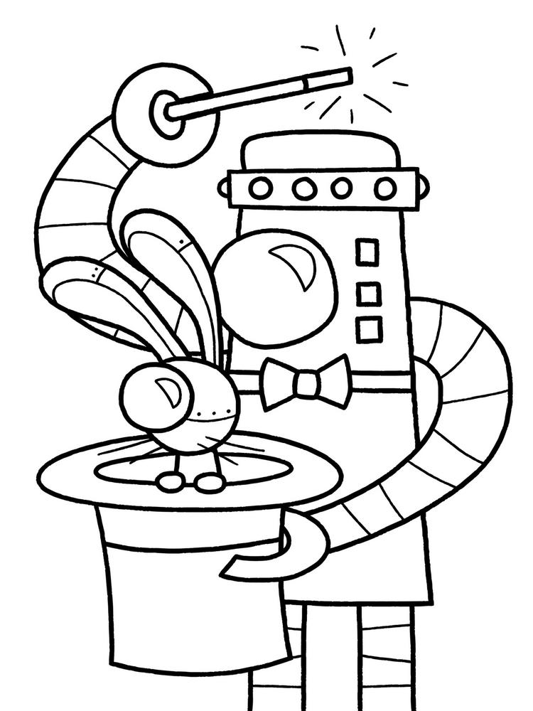 Robot Coloring Pages Printable For Kids