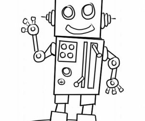 Robot coloring pages printable free