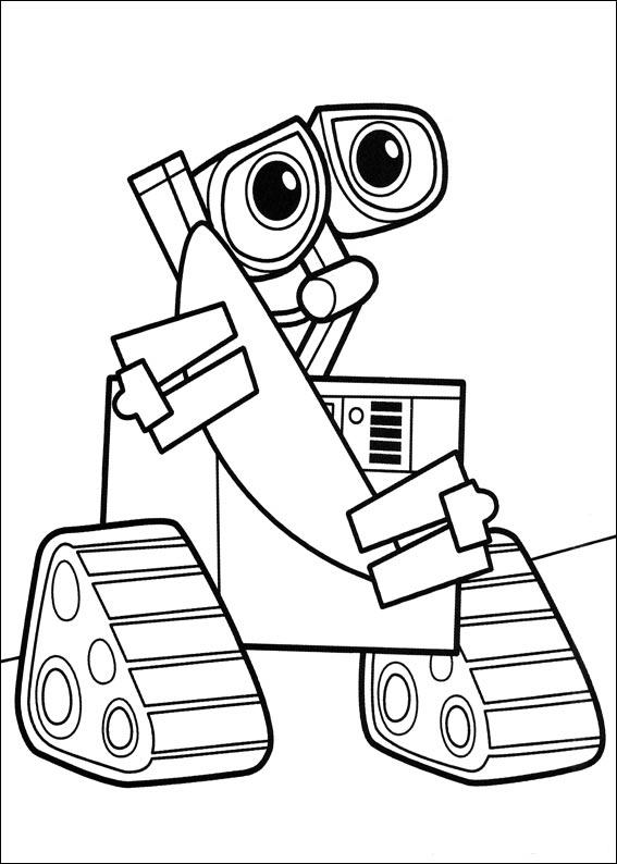 Robot Coloring Pages Wall E