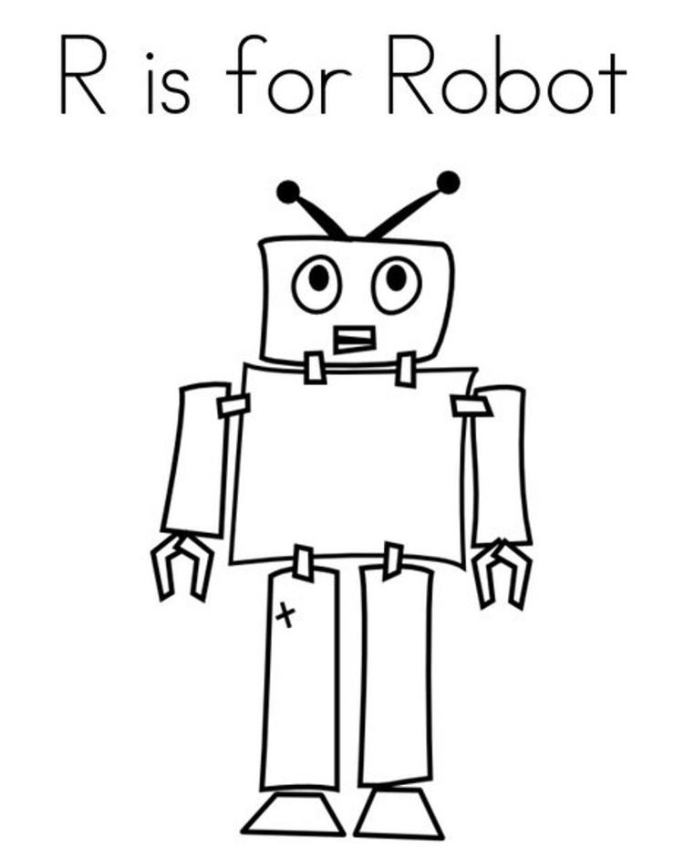 Robot Free Alphabet Coloring Pages