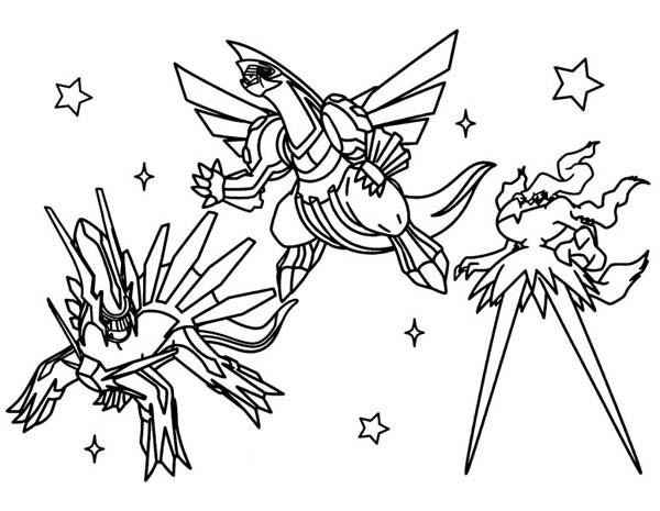 Robotic Style Legendary Pokemon Coloring Pages